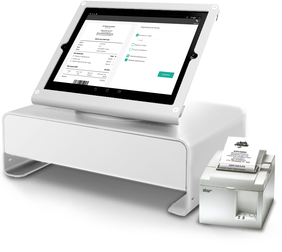 The till app that handles the printing of receipts.